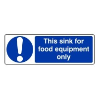 This sink for food equipment only