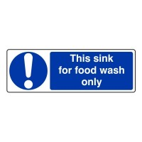 This sink for food wash only