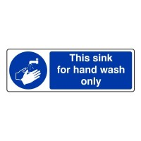 This sink for hand wash only