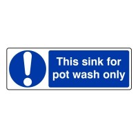 This sink for pot wash only