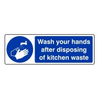 Wash your hands after disposing of kitchen waste