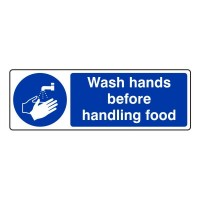Wash hands before handling food