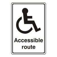 Accessible Route (with wheelchair logo)