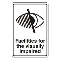 Facilities for the visually impaired (with logo)