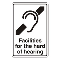 Facilities for the hard of hearing (with logo)