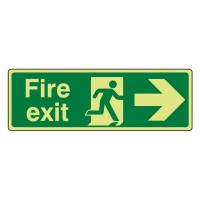 Photo luminescent Plastic Fire exit Arrow right