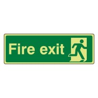 Photo luminescent Plastic Fire exit running man right