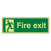 Photo luminescent Plastic Fire exit running man left