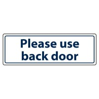 Please use the back door