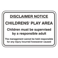 Disclaimer Notice Children's Play Area