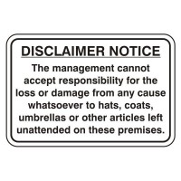 Disclaimer Notice the management cannot except responsibility