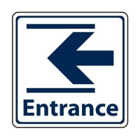 Entrance with arrow to the left