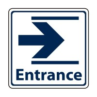Entrance with arrow to the right