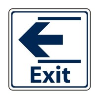 Exit with arrow to the left