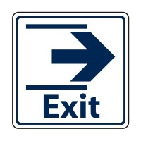 Exit with arrow to the right