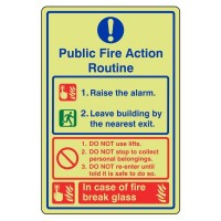 Public fire action routine