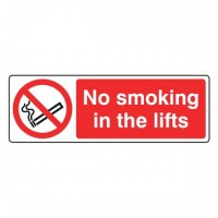 No smoking in the lifts