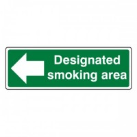 Designated smoking area (Arrow left)