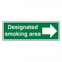 Designated smoking area (Arrow right)