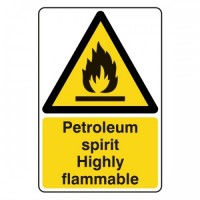 Petroleum spirit Highly flammable