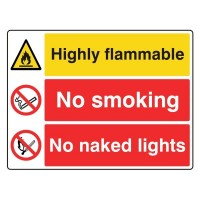 Highly Flammable / No Smoking / No Naked Lights