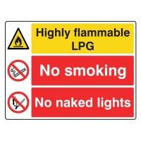 Highly Flammable LPG / No Smoking / No Naked Lights