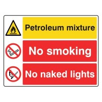 Petroleum Mixture / No Smoking / No Naked Lights