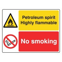 Petroleum Spirit Highly Flammable / No Smoking