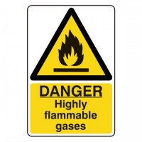 Danger Highly flammable gases