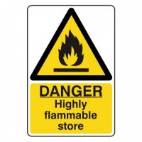 Danger Highly flammable store