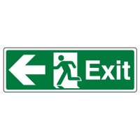 Exit, Arrow left, running man