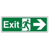 Exit, Arrow right, running man