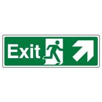 Exit, Arrow up right, running man