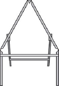 Triangle road sign frame stanchion with supplementary panel area