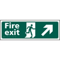 Fire exit (arrow up right)