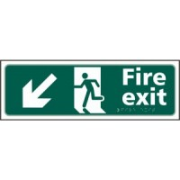 Fire exit (arrow down left)