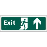 Exit, Arrow up, running man