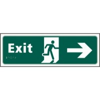 Exit, Arrow right, running man