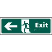 Exit, Arrow left, running man
