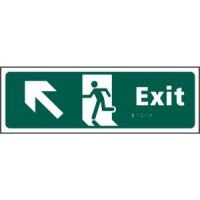 Exit, Arrow up left, running man