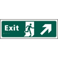 Exit, Arrow up right, running man