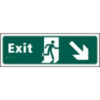 Exit Arrow down right, running man