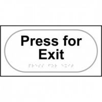 Press for exit