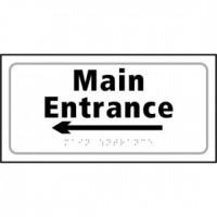 Main Entrance (arrow left