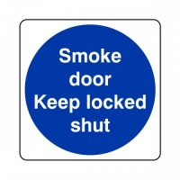 Smoke door keep locked shut