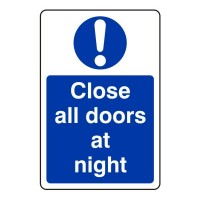 Close all doors at night