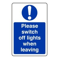 Please switch off lights when leaving