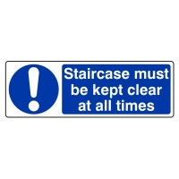 Staircase must be kept clear at all times