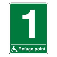 Refuge point (with number)