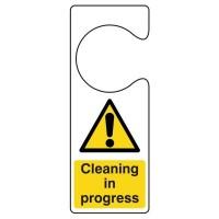 Cleaning In Progress Door Hanger Sign